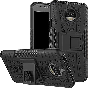 LFDZ Motorola Moto G5S Plus Funda, Soporte Cáscara de Doble Capa ...