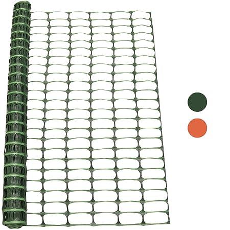 Woodside 1m x 15m Green Plastic Barrier Safety Pet Event Mesh Fence Netting  Net