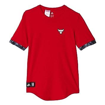 Adidas Y FNWR tee - Camiseta para niño, Color Rojo/Blanco, Talla 176