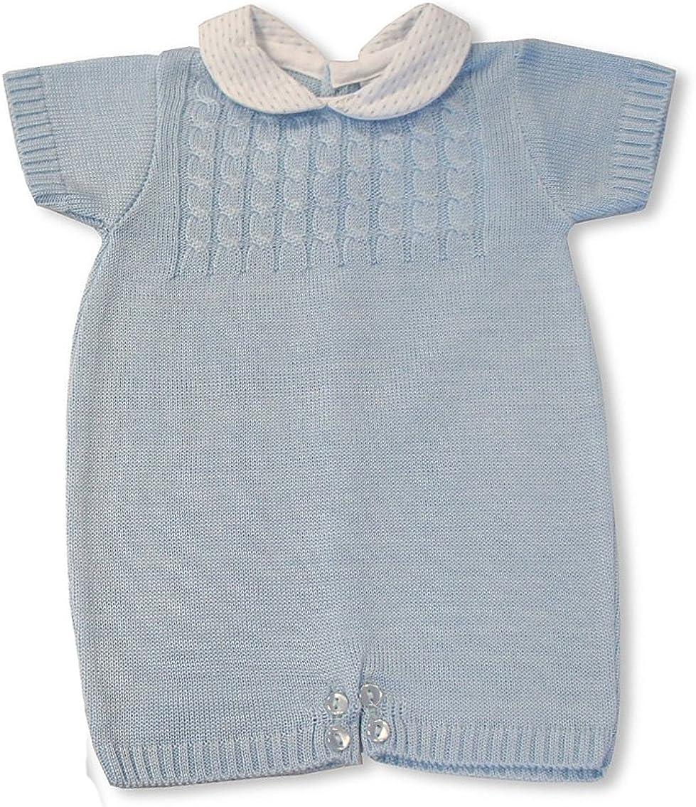Baby Boys Spanish Style Peter Pan Collar Top /& Shorts STARS Design Set