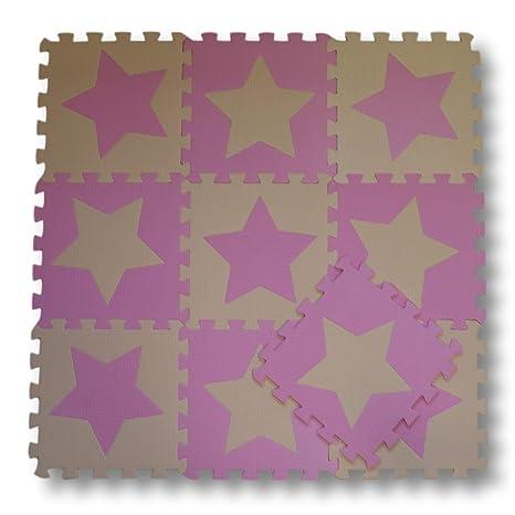 Meitoku Alfombra de Goma EVA para niños con puzle. 10 alfombras de 30 x 30. Pasa ...