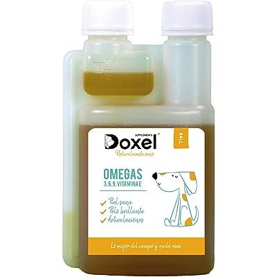 Doxel 4all-1litro - Aceite para Perros| Suplemento Natural | Sistema Inmunitario Reforzado| Articulaciones| Pelo Brillante| Piel| Ácidos grasos Omega 3 6 9| Vitamina E| Alergias Perro|Natural