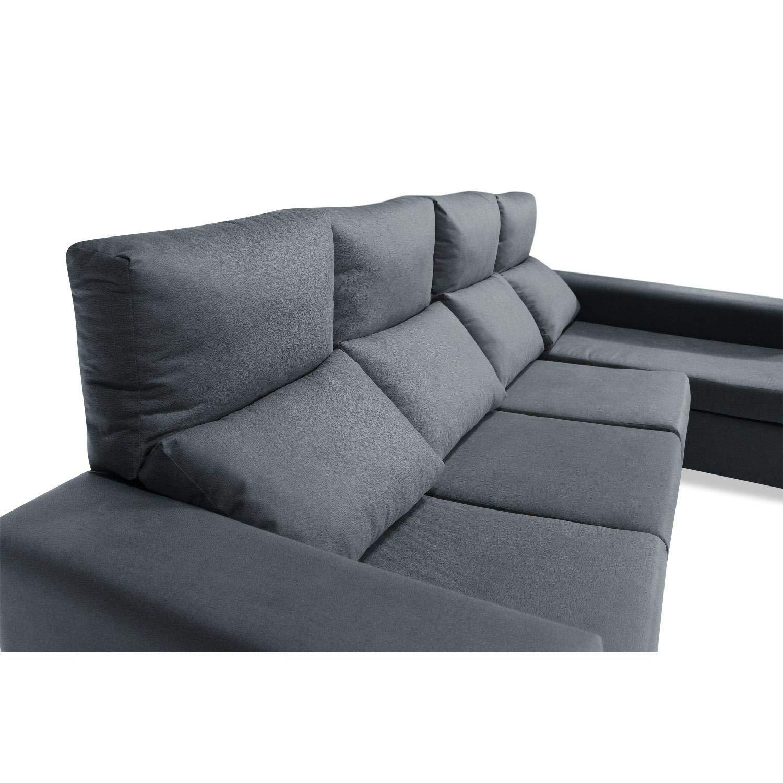 Muebles Baratos Sofa Chaise Longue, 4 plazas, Tapizado al ...