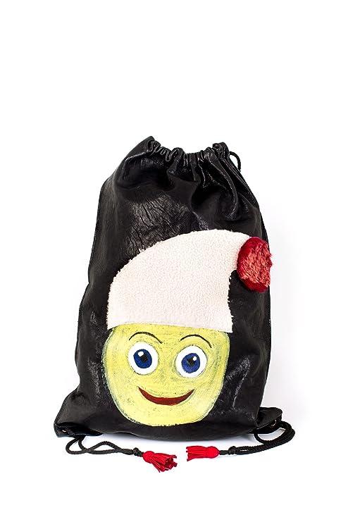 Vazzoler, mochila de piel natural 100% cordero. Emoji (emoticon) Happy