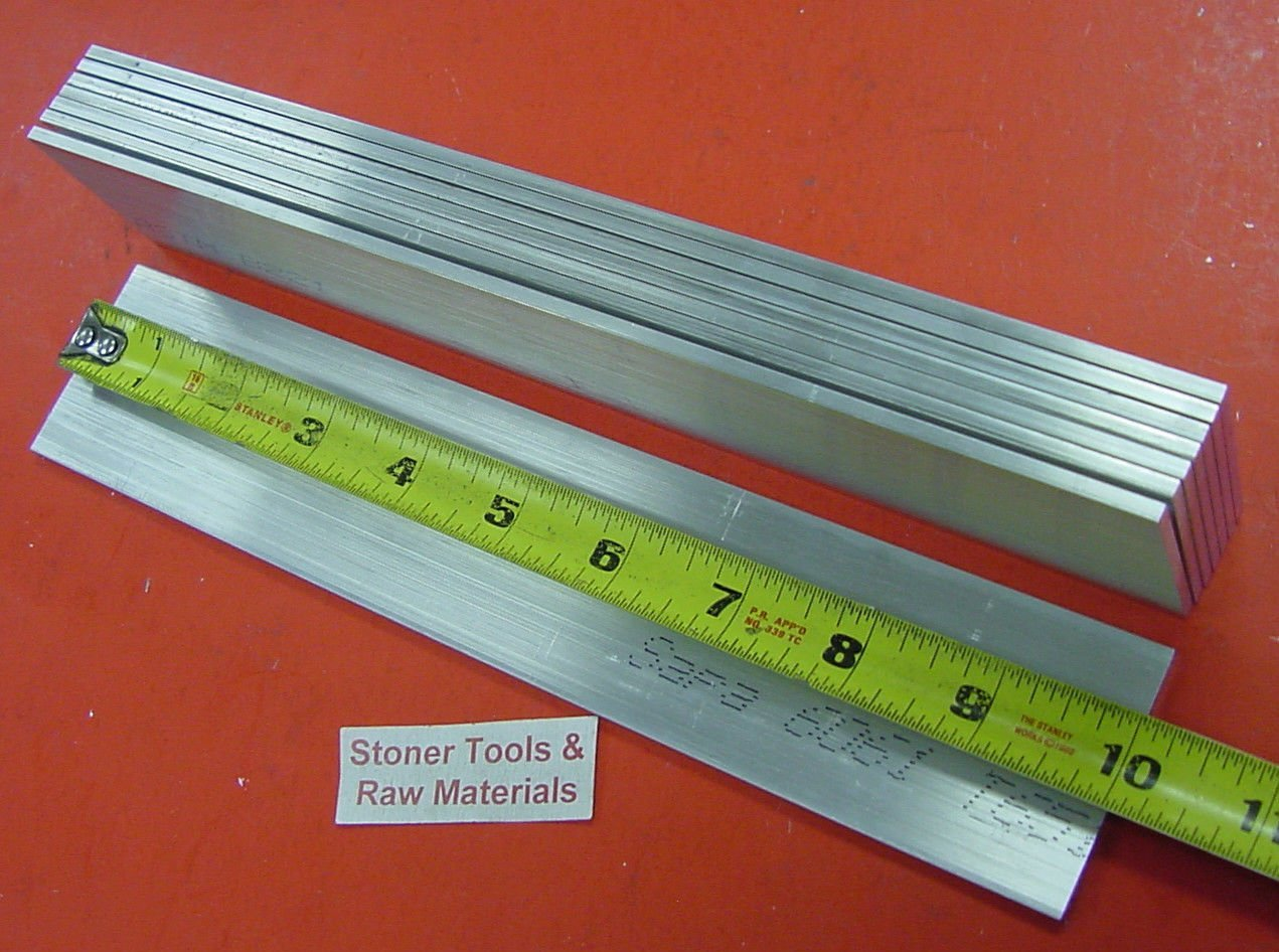 "4 Pieces 1//2/"" X 1-1//2/"" ALUMINUM 6061 FLAT BAR 6/"" long .50/"" T6511 Plate Stock"
