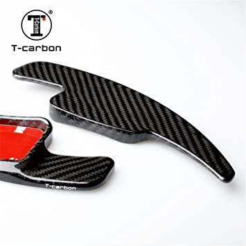 Genuine Pure Carbon Fiber Car Steering Wheel Shift Paddle Blade Shifter Extension For Audi A4L Audi A5 Audi Q2 Audi Q7 Audi S3 Audi S4 Audi TT Audi TTS Black