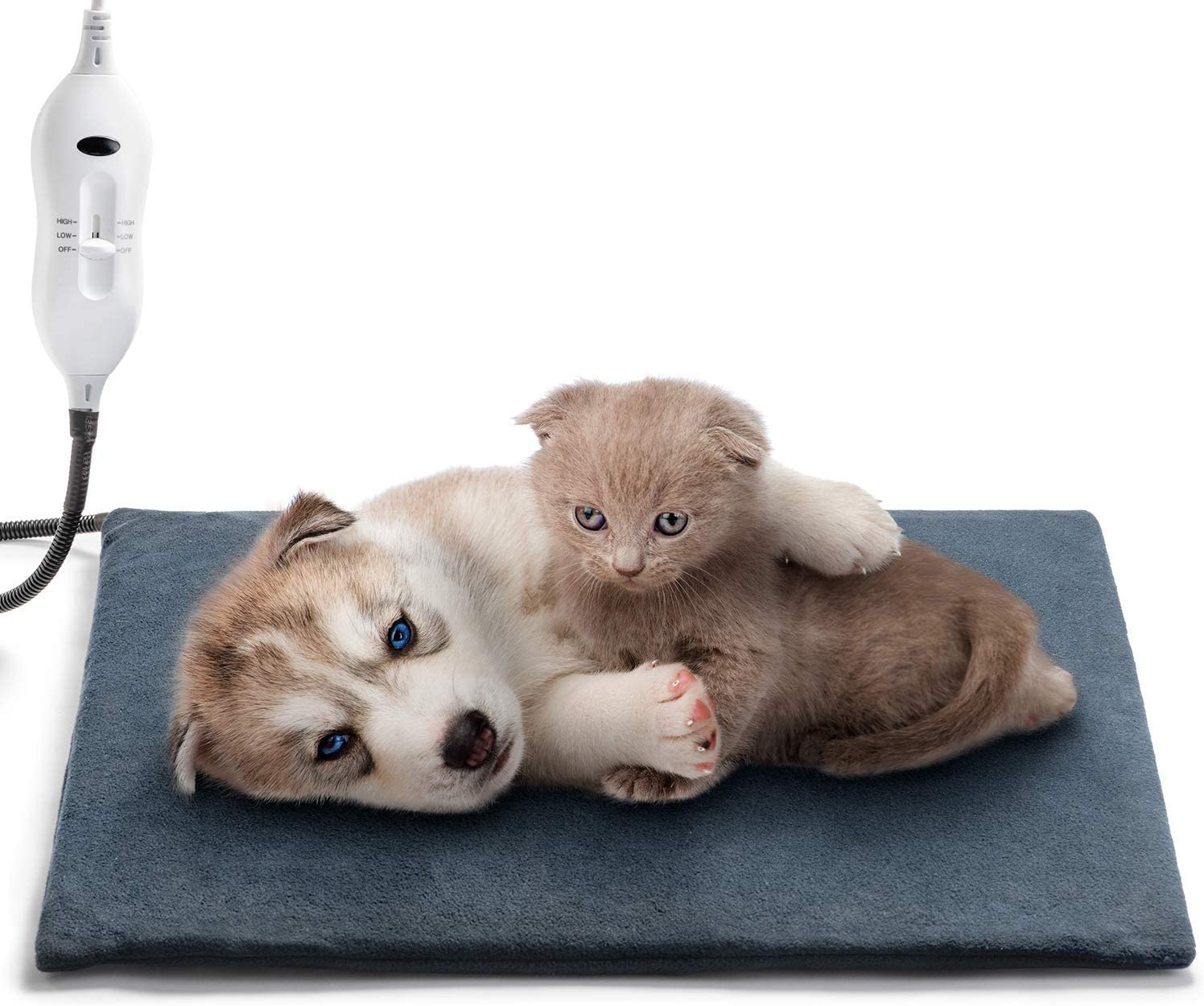 Boderrio Pet Heating Pad, Electric Heating Pad for Dogs and Cats Indoor Warming Mat with Auto Power Off