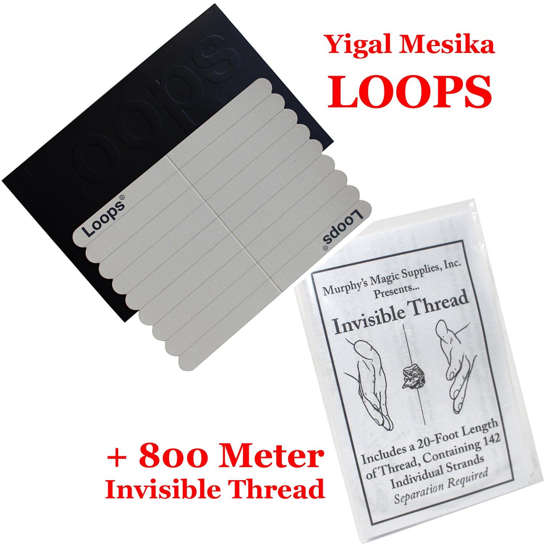Bonus: 800 Meter Invisible Thread ProTriXX Loops New Generation by Yigal Mesika Anleitung Nicht elastisch Elastische Fadenschlaufen f/ür Schwebe Zaubertricks mit dt