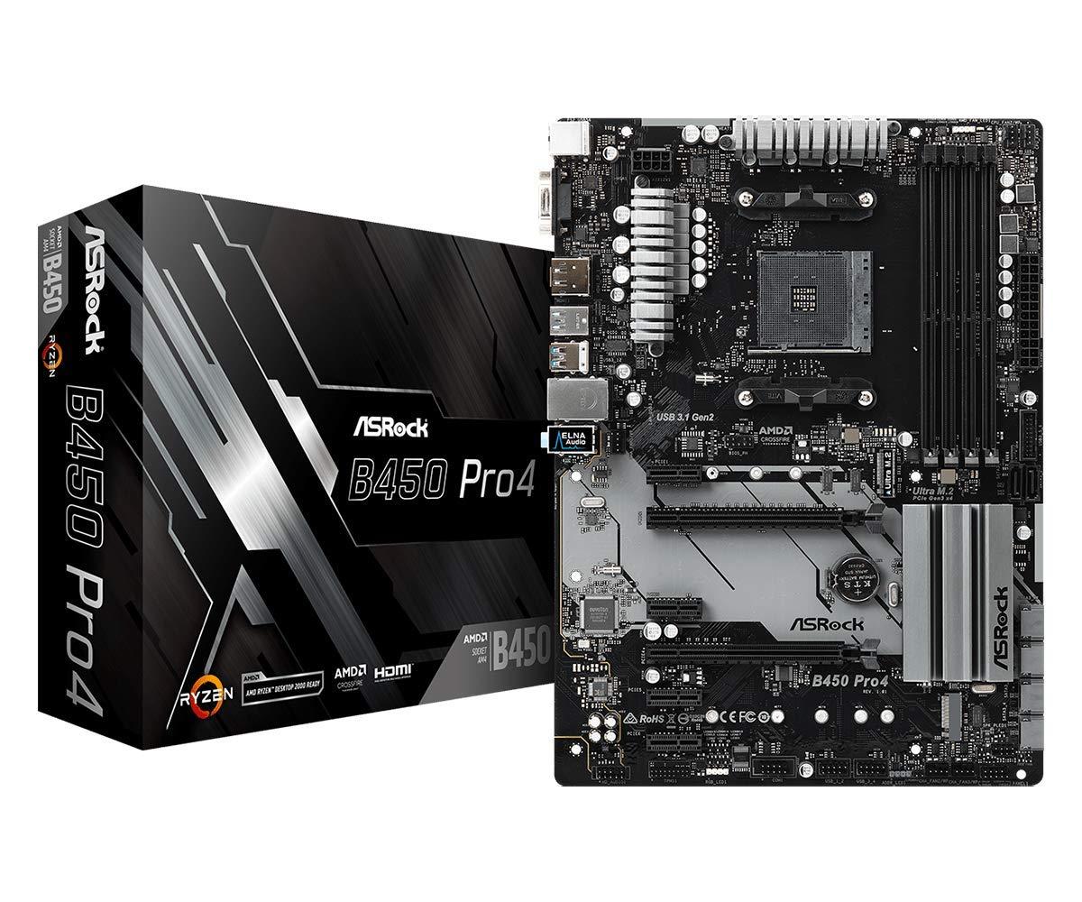 ASRock ATX Motherboard (B450 PRO4) by ASRock
