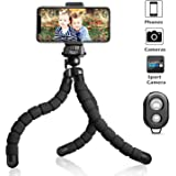 UBeesize Tripod S, Premium Phone Tripod, Flexible Tripod with Wireless Remote Shutter for iPhone & Android, Mini Tripod Stand Holder for Camera and GoPro (Upgraded)