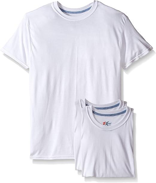 Hanes X-Temp Comfort Cool Men`s 4-Pack Crewneck White Undershirt
