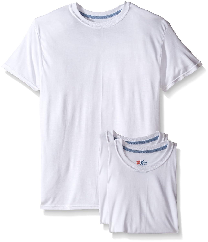 Hanes Men's 3-Pack X-Temp Comfort Cool White Crew 2535X3