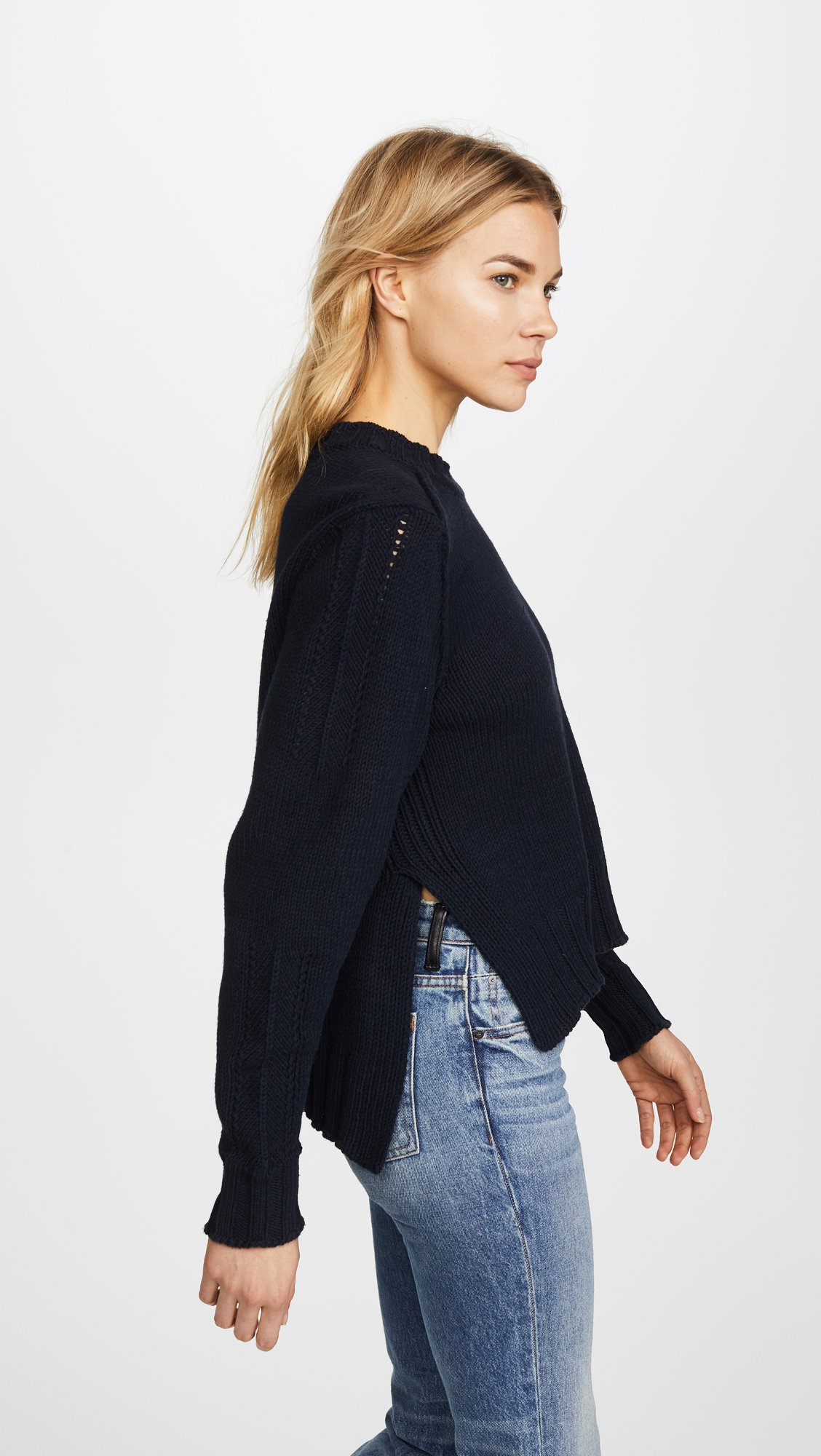 360 SWEATER Women's Kendra Sweater, Midnight, X-Small by 360SWEATER (Image #4)