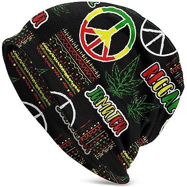 Gorras Unisex Gorros Jamaica Hippie Peace Reggae Bandera Marihuana ...