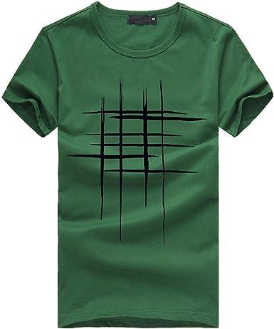Hombres Que Imprimen Las Camisetas Camisa de Manga Corta Camiseta ...