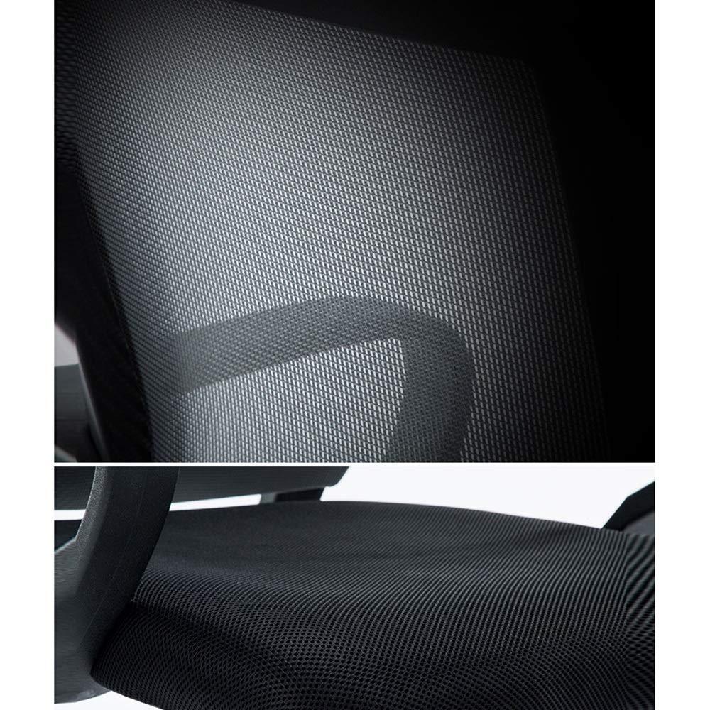 Barstolar Xiuyun datorstol huvudrestergonomisk kontorsstol hög explosionssäker pneumatisk stång justerbart nackstöd människokropp kurva Pp plastram plast (färg: svart) Svart