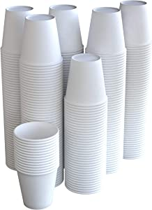 The FORKED | 300-Pack | 6 oz. White Paper Disposable Cups | Hot And Cold Beverage Drinking Cup for Water, Juice, Coffee or Tea | Ideal for Water Coolers, Party, or Coffee On the Go'