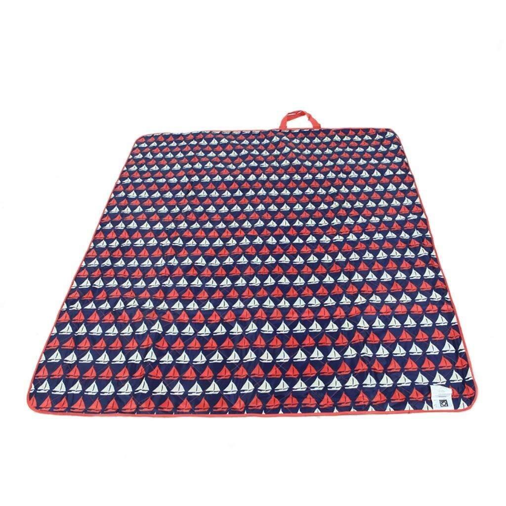 ZKKWLL Picnic Blanket Picnic mat Oxford Cloth Washable Picnic Blanket Waterproof Handle 150 X 180 cm Picnic mat (Color : B) by ZKKWLL