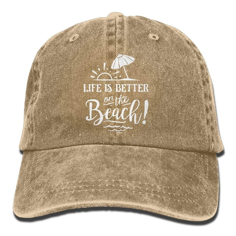 Life is Better On The Beach-1 Vintage Jeans Baseball Cap for Men and Women W554111