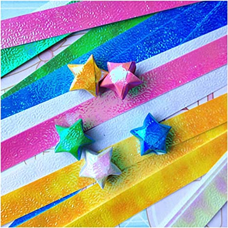 Decor DIY Crafts Best Wishes Origami Paper Strips Scrapbooking Folding Star