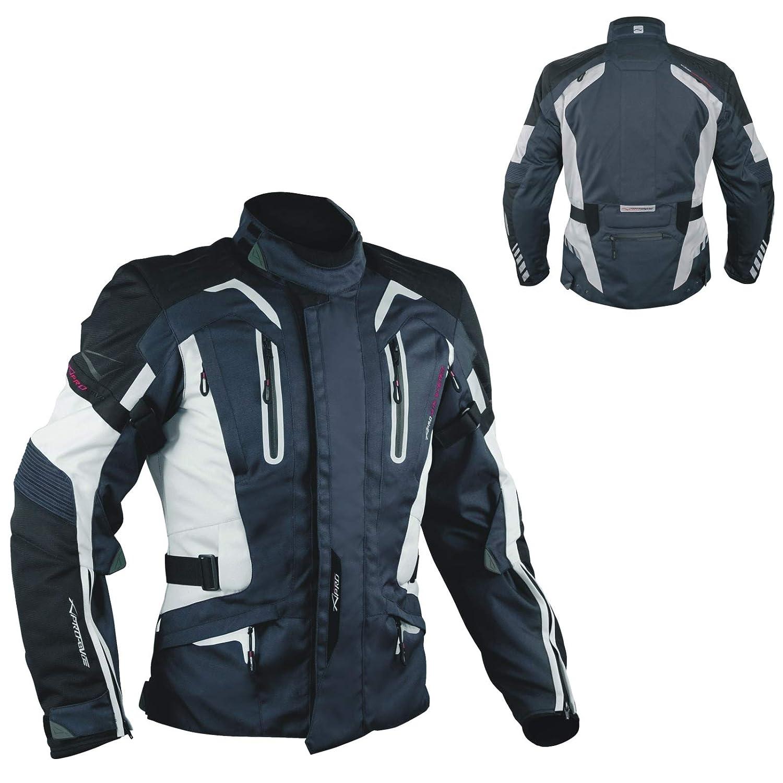 A-Pro con Fodera Termica Protezioni giacca da motociclista in tessuto Blu Scuro XL