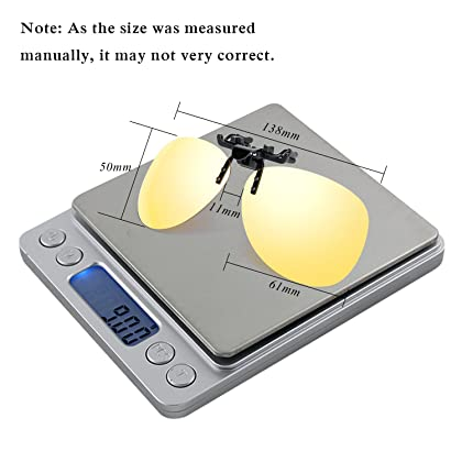 69386eb2673 Costyle Yellow Night Vision Retro Polarized Clip-on Flip-up Plastic  Sunglasses for Driving