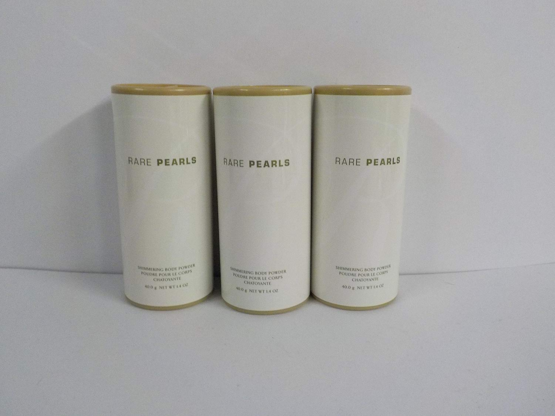 Avon Rare Pearls Shimmering Body Powder 1.4 Fl. Oz. (Lot of 3)