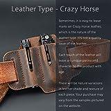 EDC Leather Belt Loop, EDC Leather Organizer Pouch, EDC Essential Carrier, Full Grain
