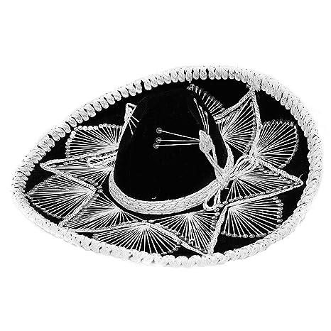 Amazon.com  Fiesta Sombrero Child Youth Black and White Assortment ... 2339f7c0d38