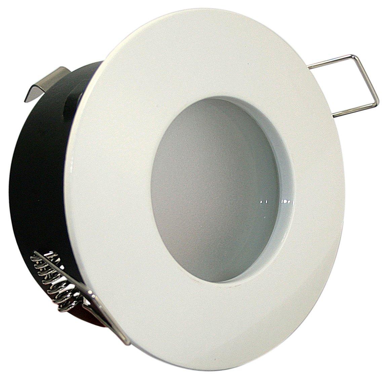 led 5watt aqua ip65 badezimmer einbaustrahler bad dusche deckenstrahler in weiss 230v gu10 5w leuchtmittel 50w power led warmweiss amazonde - Licht Dusche Ip