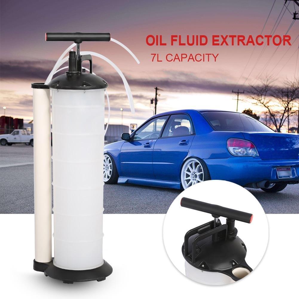 caravanas GOTOTOP Bomba Aspira Aceite Marino Barco Manual Vacuum Oil Pump Extractor Fluido para Coches Capacidad 7/litros