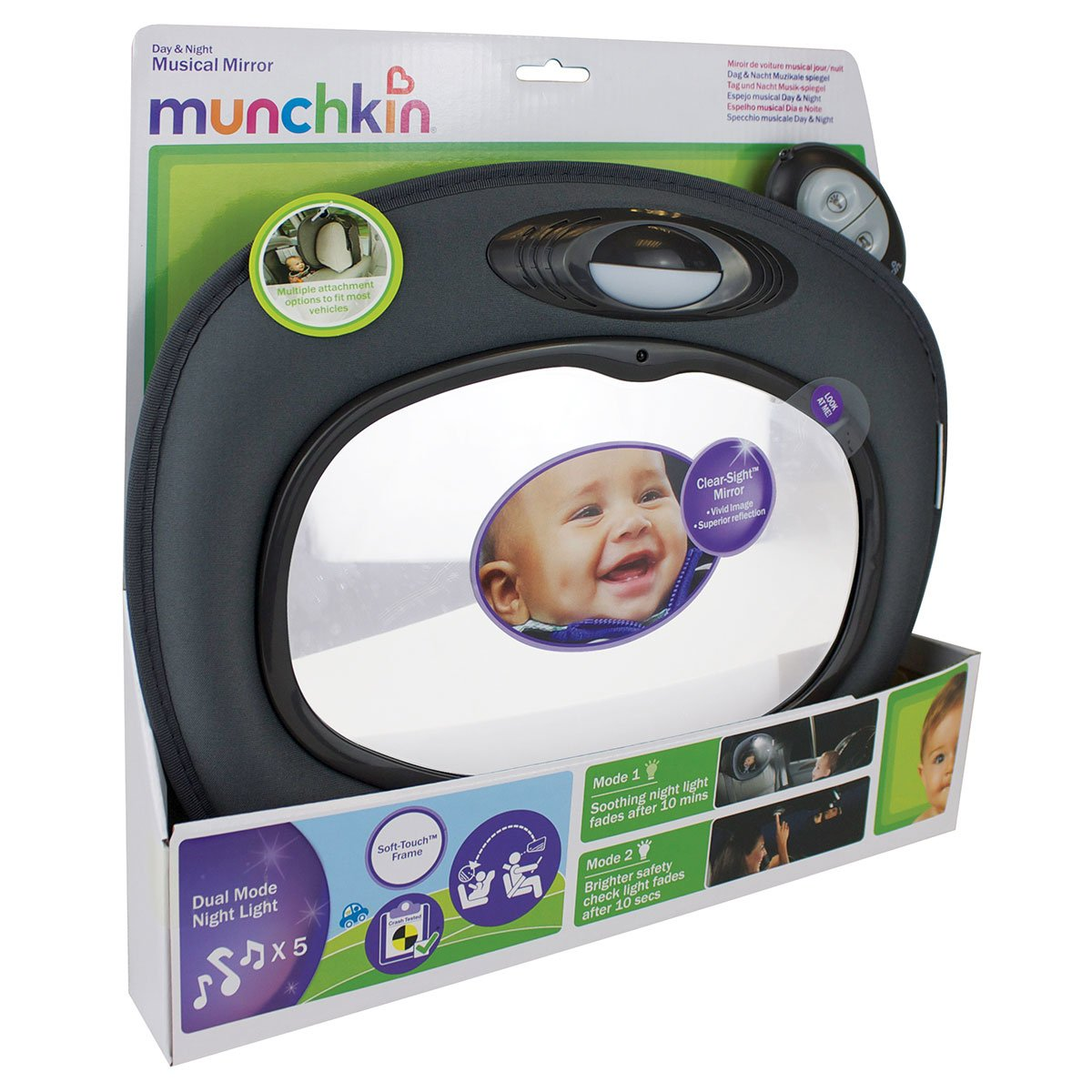Munchkin - Espejo musical con luz Day & Night