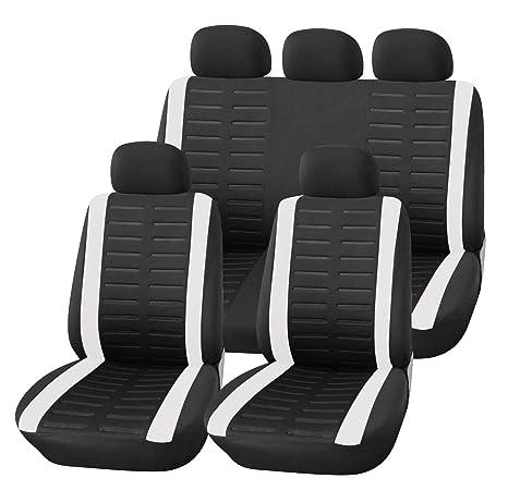 Schwarz Sitzbezüge für MERCEDES-BENZ M ML Autositzbezug VORNE