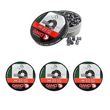 4 latas de 250 perdigones Gamo Match Diabolo de Copa 4,5mm. Modelo 320024: Amazon.es: Deportes y aire libre