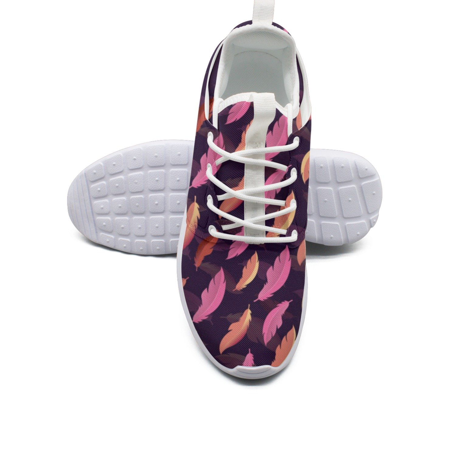 Pink Feathers Womans New Sports Running Shoes Climbing Colorful
