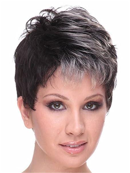 Pixie peluca sintética peluca corta del traje de la peluca llena del pelo de la Mujer 0297: Amazon.es: Ropa y accesorios