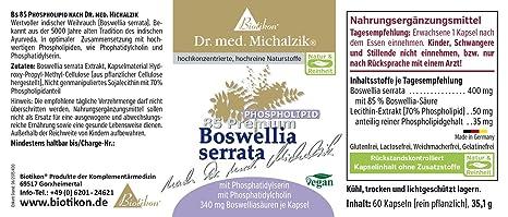 Boswellia Serrata 100 Bs 85 Phospholipids By Dr Michalzik Md