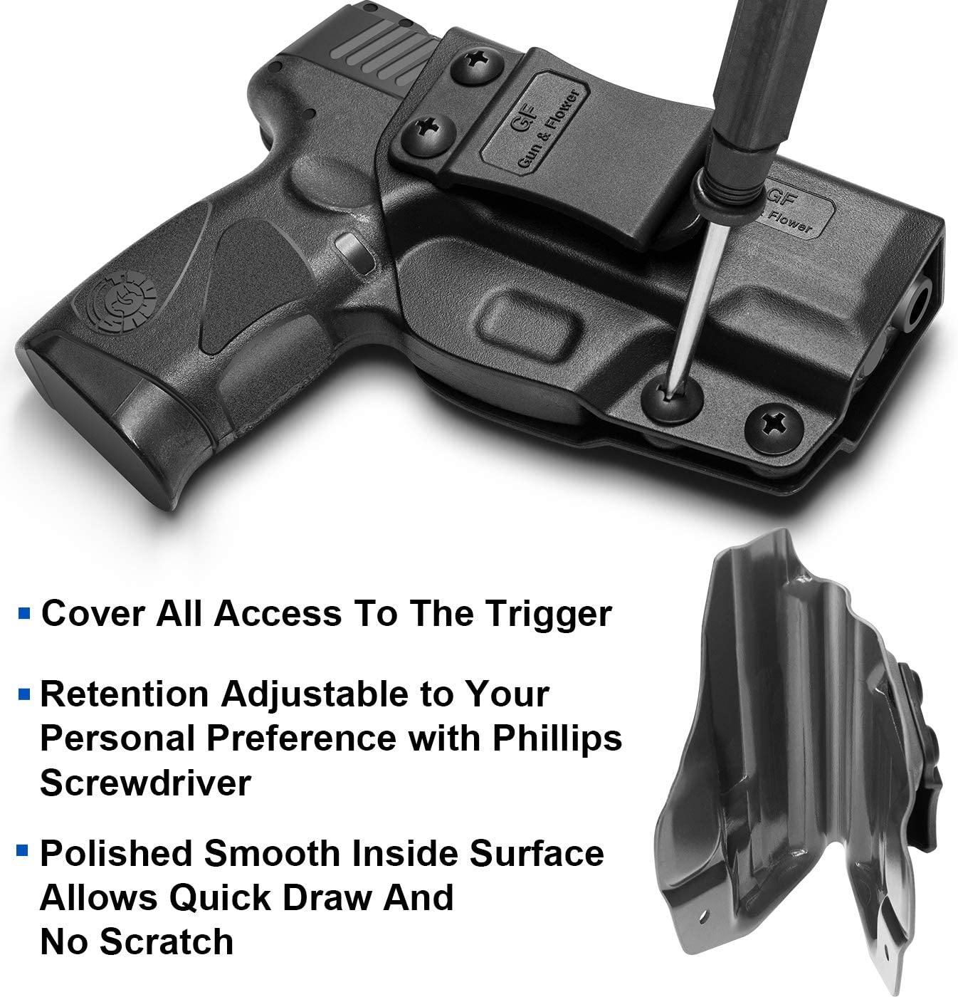 Taurus G3C Holster Polymer IWB for Concealed Carry G2C/& Details about  /Taurus G2C Holster