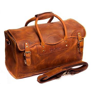 d80a1859165 Amazon.com | Damun Leather Duffel Bags for Men & Women Handmade ...