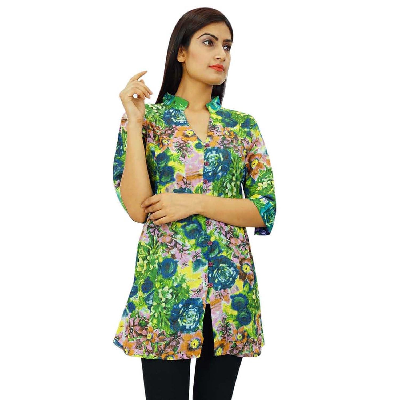 Top-Frauen-Sommer-Baumwoll Boho Indian Lässige Sommerkleid ...