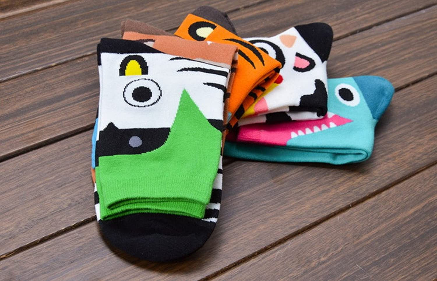 Bigood Ladies Women Korean Cartoon Funny Animal Cotton Rich Casual Crew Socks