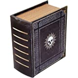 Grimoire Pro Tour, Immortal   Wooden Spellbook Style Fabric Lined Portable Deck Box for MTG, Yugioh, and Other TCG   350+ Card Capacity