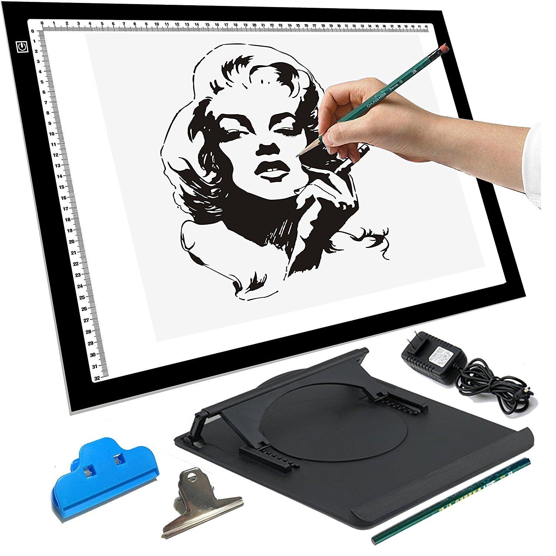 LED Tracing Light Box Board Art Tattoo Drawing Pad Table Stencil Display