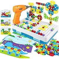 yoptote 224 PCS Juguetes Montessori Puzzles 3D Mosaicos Infantiles Manualidades Niños Dinosaurios Juguetes Educativos…