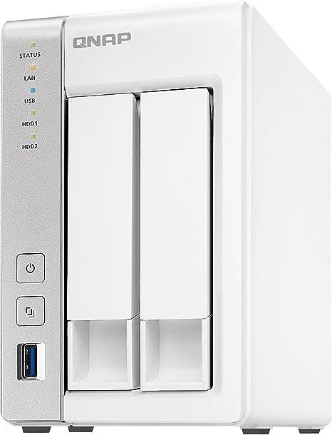 QNAP TS-231P Ethernet Escritorio Gris, Blanco NAS - Unidad Raid (4 ...