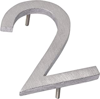 "product image for Montague Metal Products MHN-08-F-BA-2 House Numbers, 8"", Polished Brushed Aluminum"