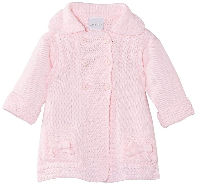 e7c7b89b2 DEP International Abrigo para bebé, talla 0-6 meses (3-6 meses), color  rosa: Amazon.es: Ropa y accesorios