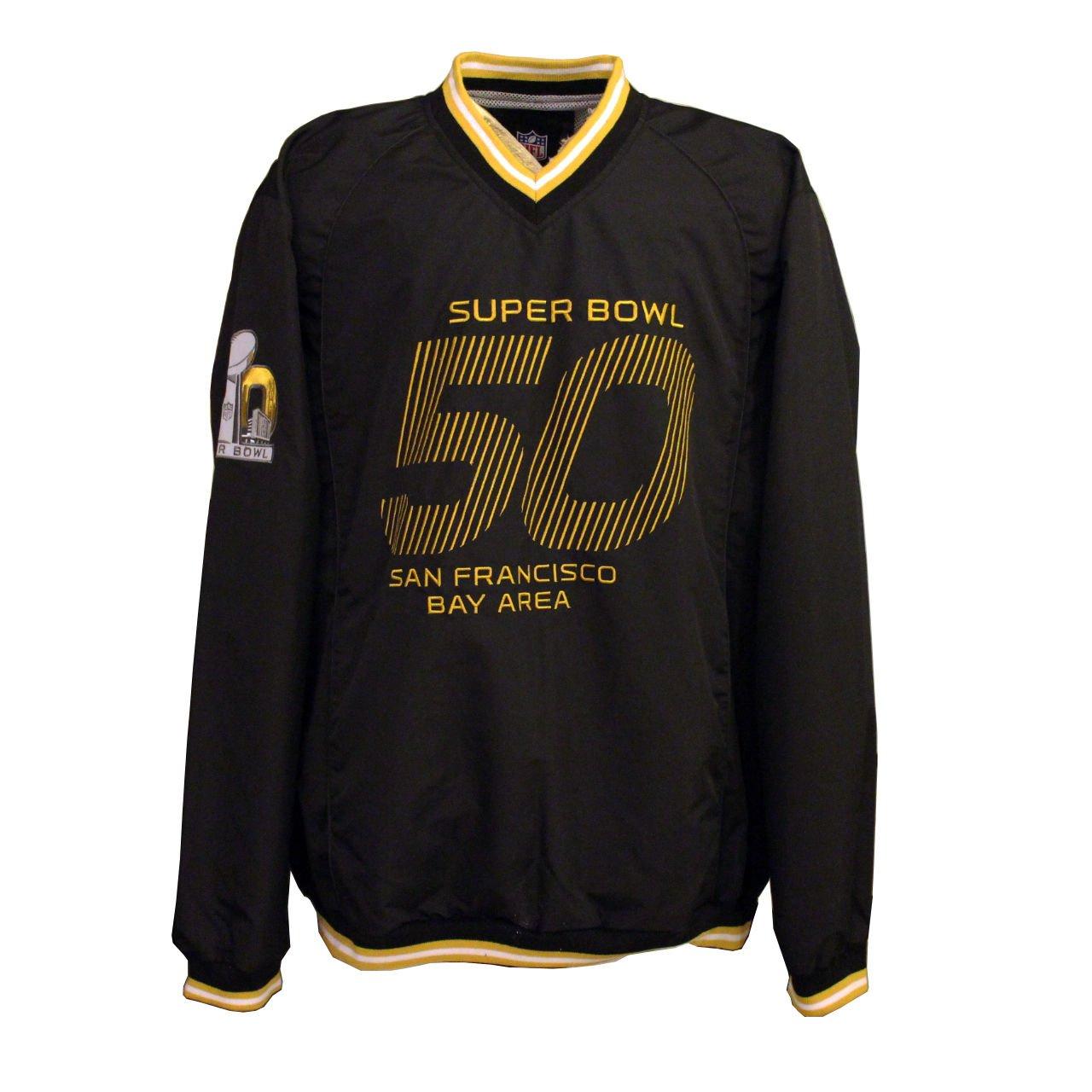 huge selection of ab2e3 4b2e6 Amazon.com : NFL Men's Super Bowl 50 V-Neck WindBreaker ...