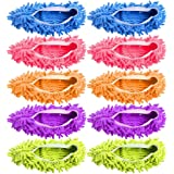 Mop Slippers, Disposable Sock for Guest Microfiber Floor Cleaner Foot Shoe Covers Dust Mop Slippers Duster House…