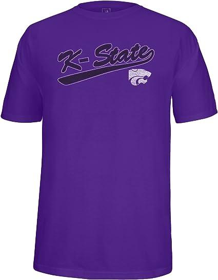 Purple Large NCAA Kansas State Wildcats Mens Team Color Crewneck Sweatshirt